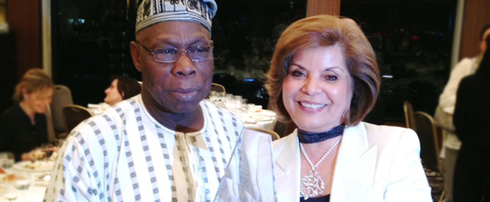 Mehri and President Obasanjo jointly received the 2012 Aspen Awards for Cultural Diplomacy